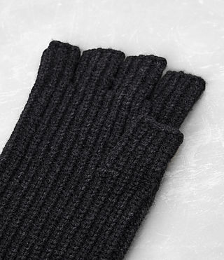 Mens Tornn Knitted Gloves (Cinder Black Marl) - product_image_alt_text_4
