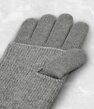 Mens Yukon Gloves (Grey Marl) - product_image_alt_text_4