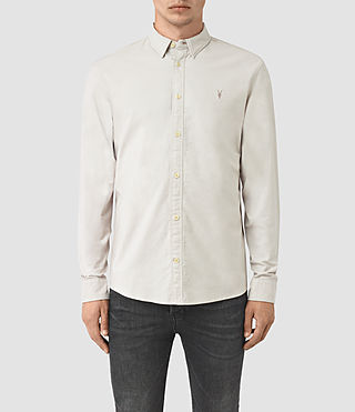 Hombres Hungtingdon Shirt (Ash Grey)