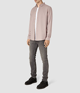 Mens Hungtingdon Shirt (Pink) - product_image_alt_text_2