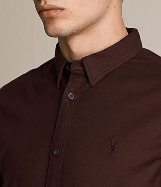 Hommes Hungtingdon Ls Shirt (Damson) - product_image_alt_text_2