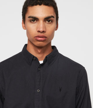 Mens Hungtingdon Shirt (INK NAVY) - product_image_alt_text_2