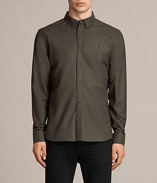Men's Hungtingdon Shirt (Dark Khaki Green) -