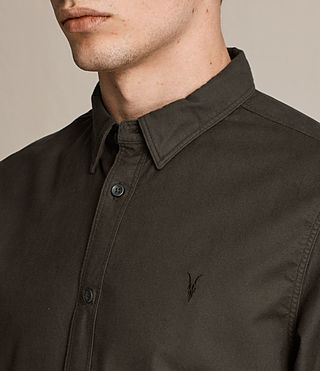 Men's Hungtingdon Shirt (Dark Khaki Green) - product_image_alt_text_2
