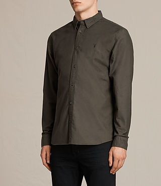 Men's Hungtingdon Shirt (Dark Khaki Green) - product_image_alt_text_3