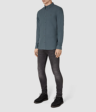 Men's Hungtingdon Shirt (Deep Ocean Blue) - product_image_alt_text_2