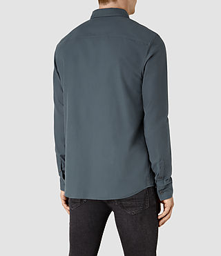 Hombre Hungtingdon Ls Shirt (Deep Ocean Blue) - product_image_alt_text_3