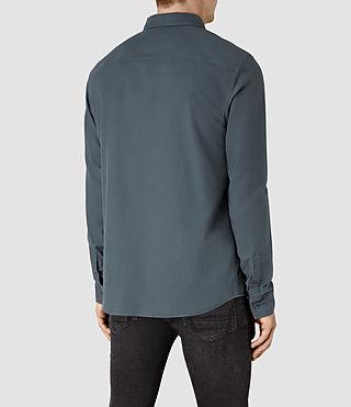 Mens Hungtingdon Shirt (Deep Ocean Blue) - product_image_alt_text_3
