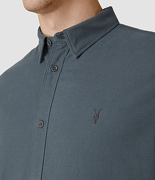 Hombre Hungtingdon Ls Shirt (Deep Ocean Blue) - product_image_alt_text_4