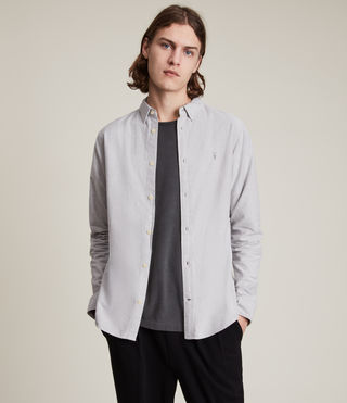 Herren Hungtingdon Ls Shirt (DARK GULL GREY) -