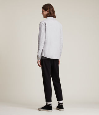 Hommes Hungtingdon Ls Shirt (DARK GULL GREY) - product_image_alt_text_4