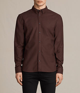 Hombres Hungtingdon Shirt (Damson Red)