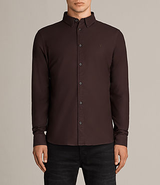 Mens Hungtingdon Shirt (MAHOGANY RED) - Image 1