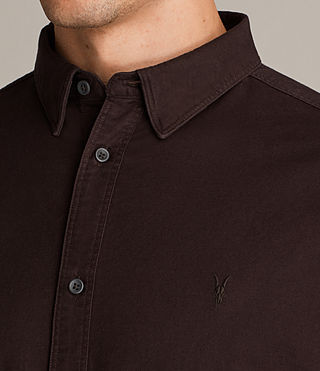 Mens Hungtingdon Shirt (MAHOGANY RED) - Image 2