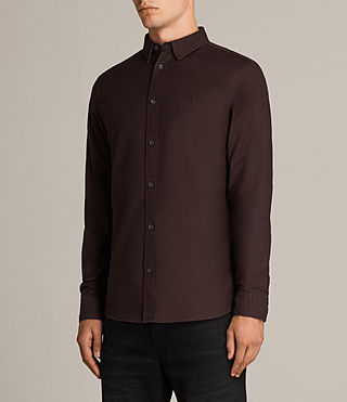 Uomo Camicia Hungtingdon (MAHOGANY RED) - Image 3