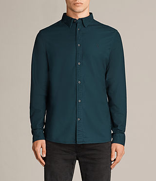Mens Hungtingdon Shirt (OIL BLUE) - Image 1