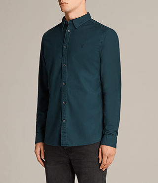 Mens Hungtingdon Shirt (OIL BLUE) - Image 3