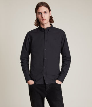 Hombre Hungtingdon Ls Shirt (Black) - product_image_alt_text_1