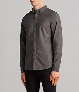 Hommes Hungtingdon Shirt (HEATH GREY) - Image 3