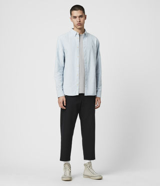 Hombre Hungtingdon Ls Shirt (Light Blue) - product_image_alt_text_3