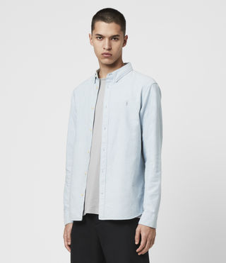 Mens Hungtingdon Shirt (Light Blue) - product_image_alt_text_4