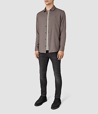 Mens Bixby Shirt (Slate Grey) - product_image_alt_text_2