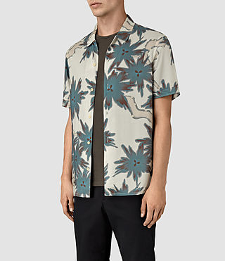 Hombre Zapata Short Sleeve Shirt (Off White) - product_image_alt_text_2