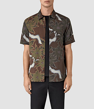 Hombres Zapata Short Sleeve Shirt (Brown)