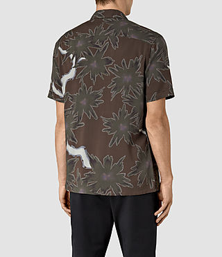 Hommes Zapata Short Sleeve Shirt (Brown) - product_image_alt_text_3