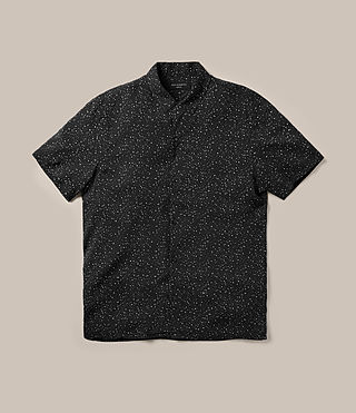 Hombres Argo Short Sleeve Shirt (Jet Black) -
