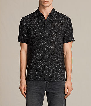 Hombres Argo Short Sleeve Shirt (Jet Black) - product_image_alt_text_2