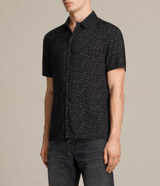 Hombres Argo Short Sleeve Shirt (Jet Black) - product_image_alt_text_4