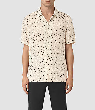 Mens Yuma Short Sleeve Shirt (Ecru) - product_image_alt_text_1