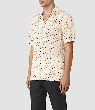 Mens Yuma Short Sleeve Shirt (Ecru) - product_image_alt_text_2