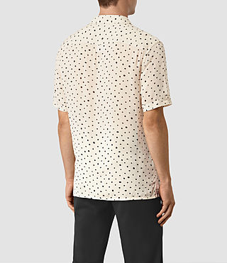 Mens Yuma Short Sleeve Shirt (Ecru) - product_image_alt_text_3