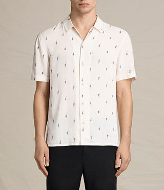 Mens Cygnus Short Sleeve Shirt (ECRU WHITE) - product_image_alt_text_1