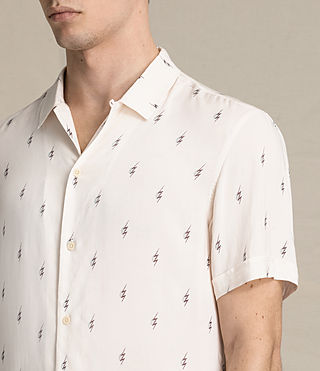 Mens Cygnus Short Sleeve Shirt (ECRU WHITE) - product_image_alt_text_2