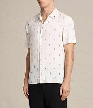 Mens Cygnus Short Sleeve Shirt (ECRU WHITE) - product_image_alt_text_3
