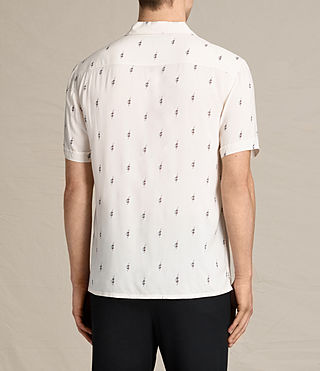 Mens Cygnus Short Sleeve Shirt (ECRU WHITE) - product_image_alt_text_4