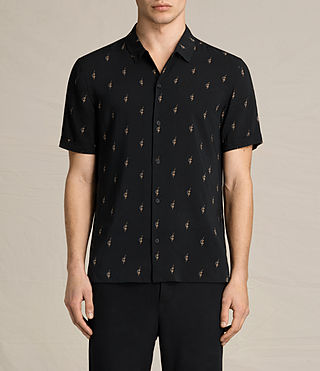 Herren Cygnus Short Sleeve Shirt (Jet Black) -
