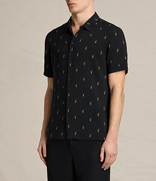 Men's Cygnus Short Sleeve Shirt (Jet Black) - product_image_alt_text_3