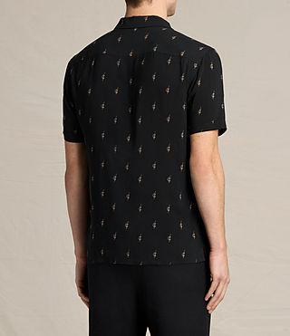 Men's Cygnus Short Sleeve Shirt (Jet Black) - product_image_alt_text_4