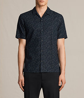 Hombre Eugene Short Sleeve Shirt (Dark Ink) - product_image_alt_text_1