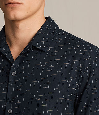 Hombre Eugene Short Sleeve Shirt (Dark Ink) - product_image_alt_text_2