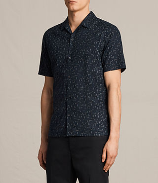 Hombre Eugene Short Sleeve Shirt (Dark Ink) - product_image_alt_text_3