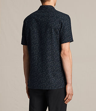 Hombre Eugene Short Sleeve Shirt (Dark Ink) - product_image_alt_text_4