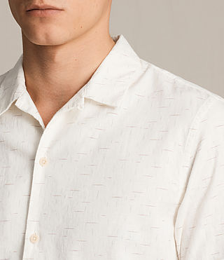 Mens Eugene Short Sleeve Shirt (ECRU WHITE)