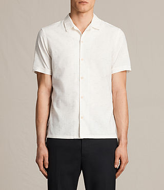 Men's Eugene Short Sleeve Shirt (ECRU WHITE) - product_image_alt_text_2