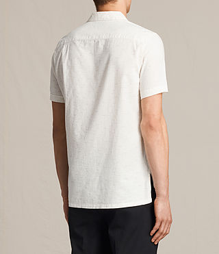 Men's Eugene Short Sleeve Shirt (ECRU WHITE) - product_image_alt_text_4