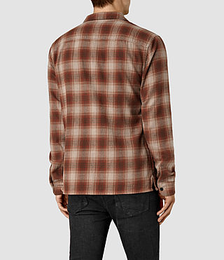 Mens Augusta Check Shirt (Rust) - product_image_alt_text_3